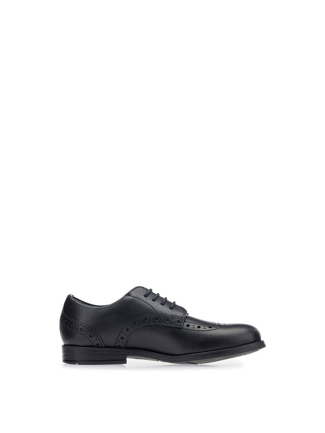 Brogue Snr Vegan Black School Shoes