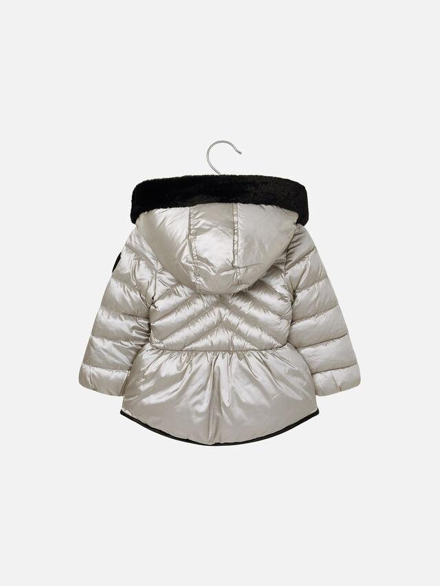 Metallic Hooded Puffa