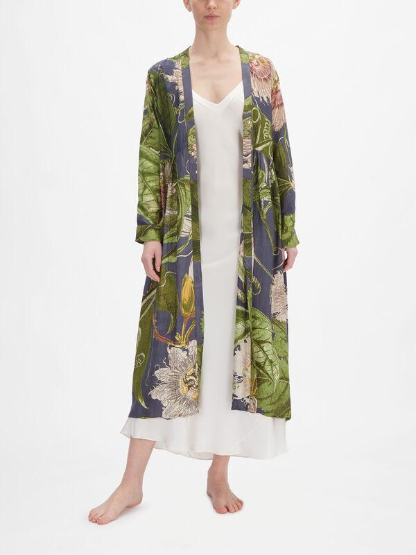 Kew Passion Flower Duster Coat
