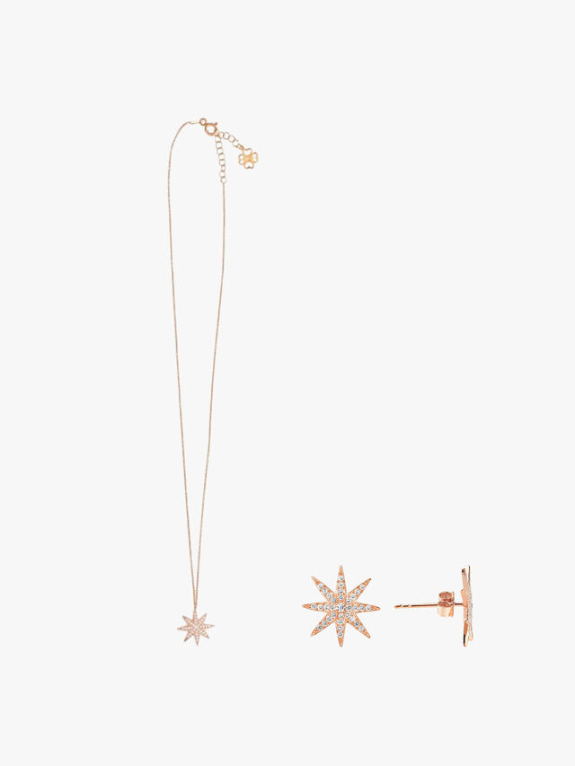 Sun Necklace and Stud Set