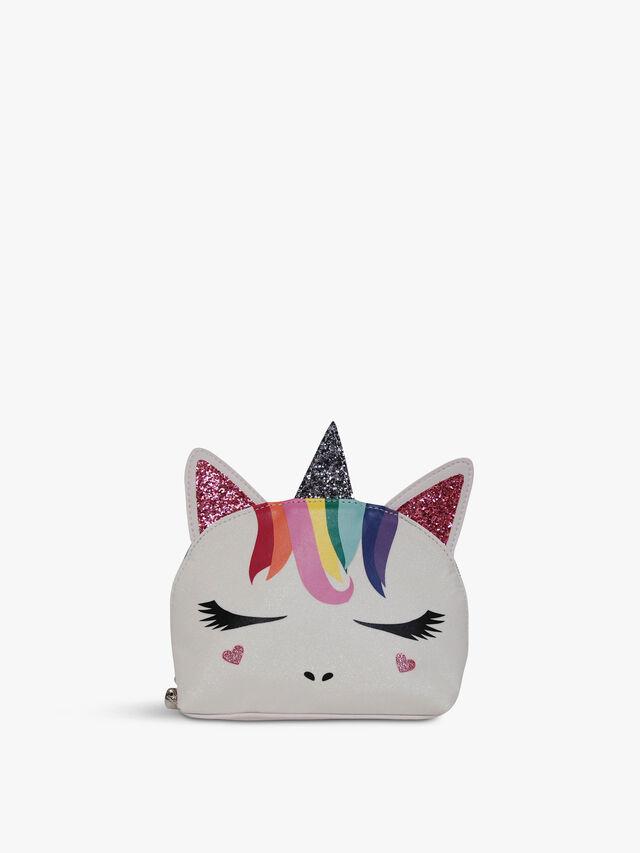 Rainbow Hair Unicorn Cosmetic Bag