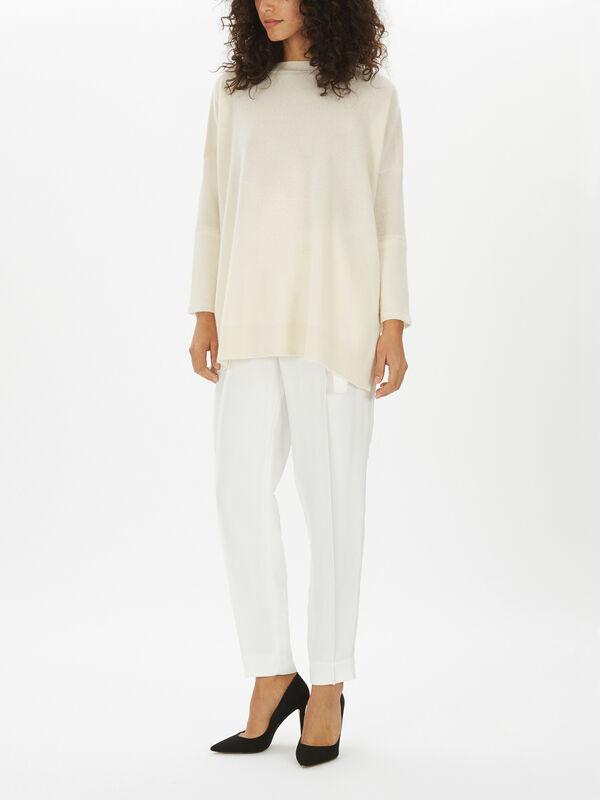 Cashmere Slash Neck Sweater