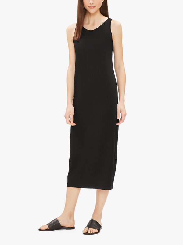 Viscose Jersey Scoop Neck Full Length Dress
