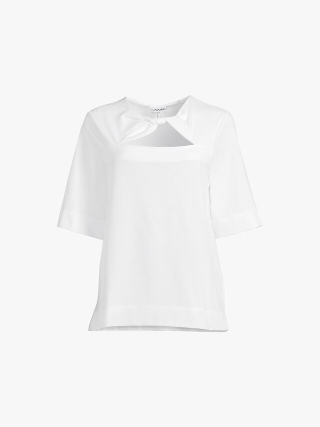 Twisted Neckline Short Sleeve Tshirt