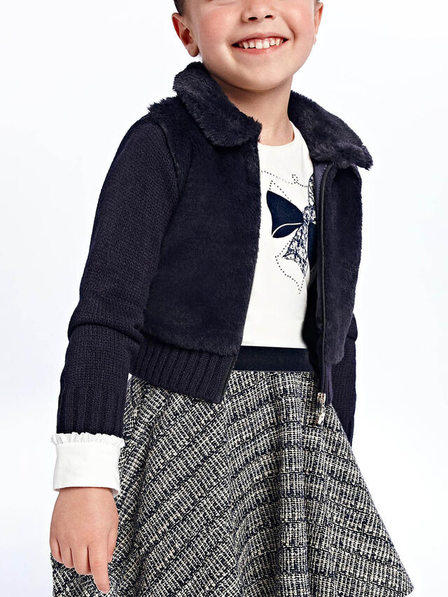 Furry knit sweater