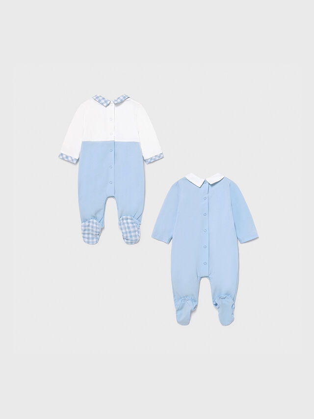 Embroidered Babygrow Two Piece Set