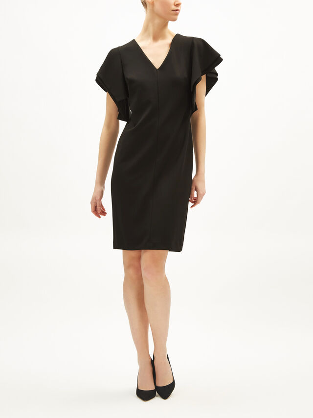Soft Crepe Feature Sleeve Dress