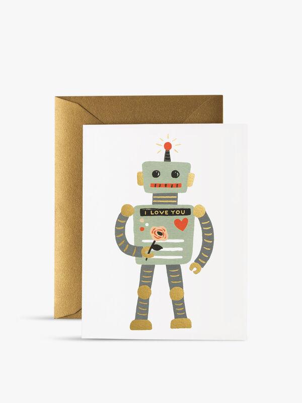 Love Robot Valentine's Day Card