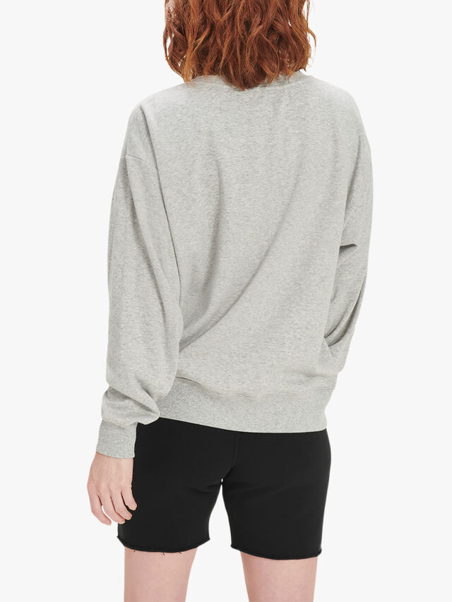 Megan Logo Embossed Sweatshirt