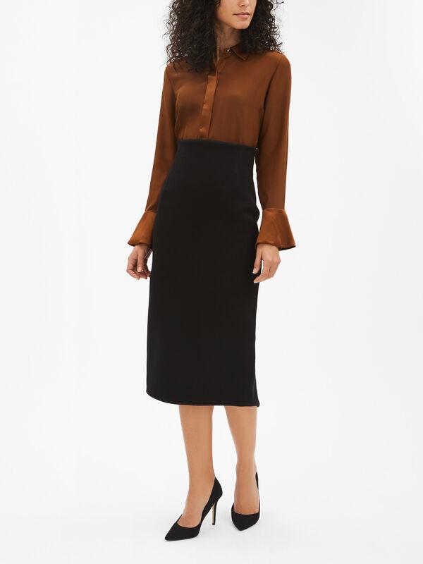 Midi Skirt With Split