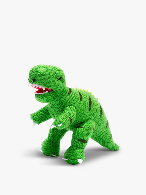 Knitted T-rex Mini Rattle