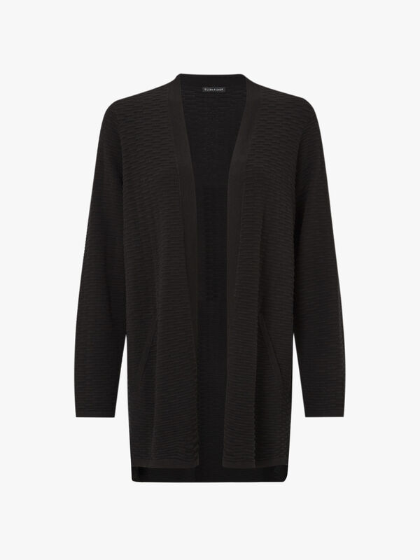 Simple Silk Cardigan