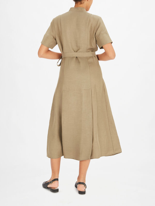 Maxi Shirt Dress with Waist Tie