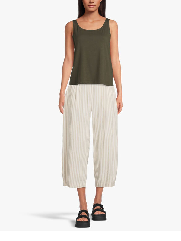 Woven Wide Leg Pull On Culotte