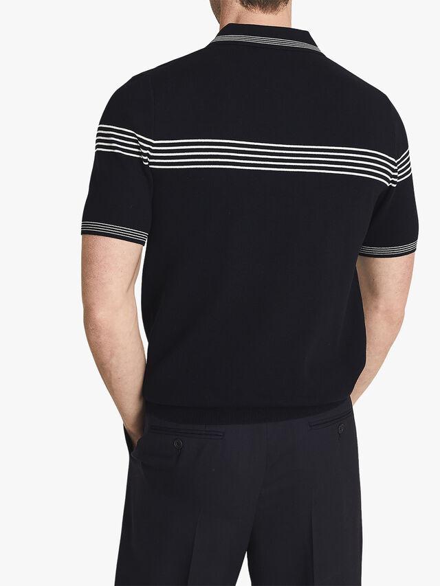 Claude Tipped Zip Neck Polo Shirt