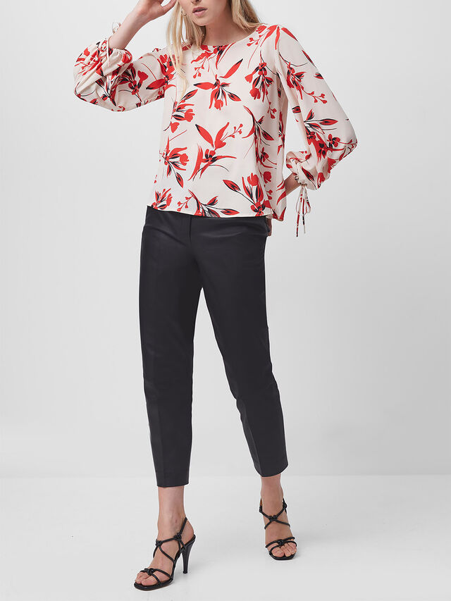 Eliva Crepe Light Long Sleeve Top