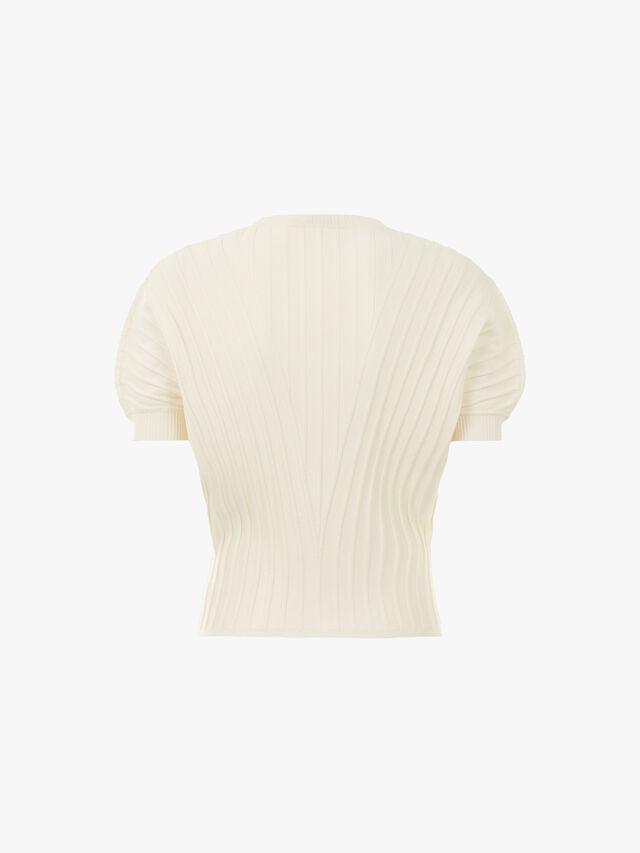 Dodici Cap Sleeve Ribbed Sweater
