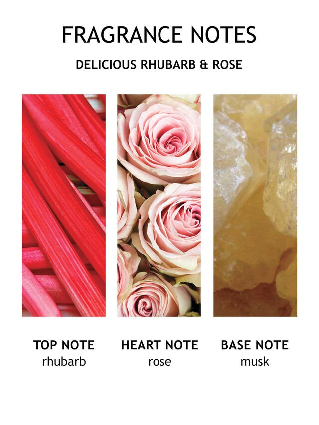 Delicious Rhubarb & Rose Aroma Reeds