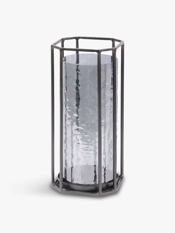 Bersa Small Faceted Hurricane Candle Holder