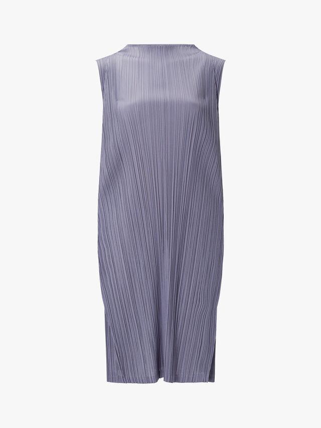 Skew High Neck Long Dress