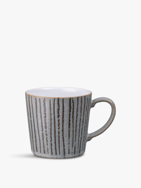 Dark Grey Vertical Wax Large Mug