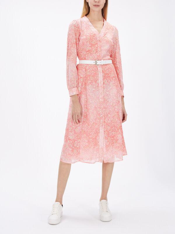 Sunbleached Print Midi Shirt Dress