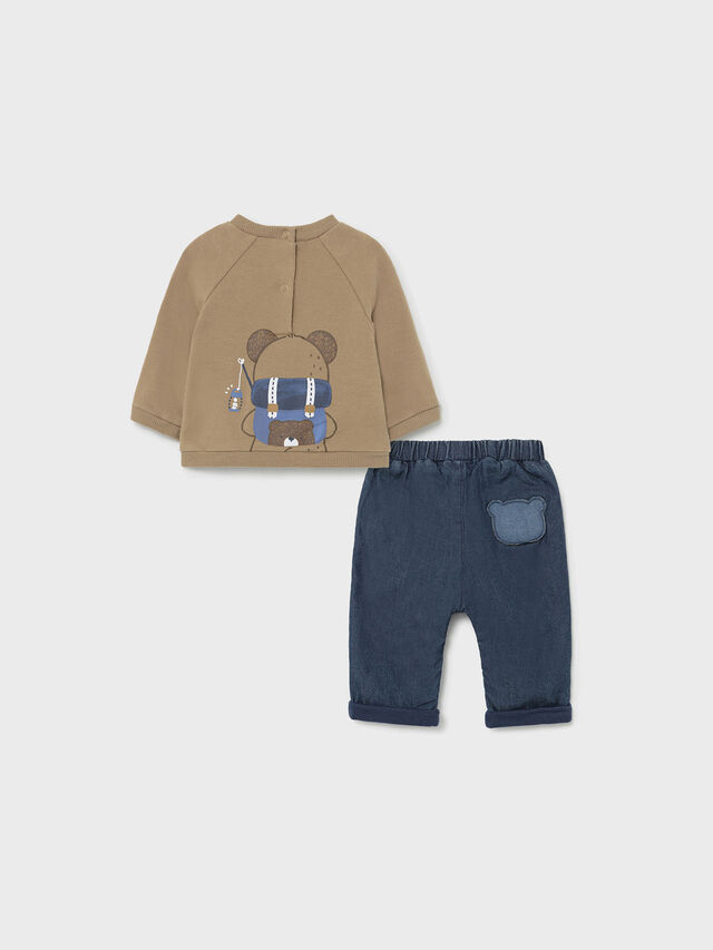 2Pc Backpack Sweat & jeans