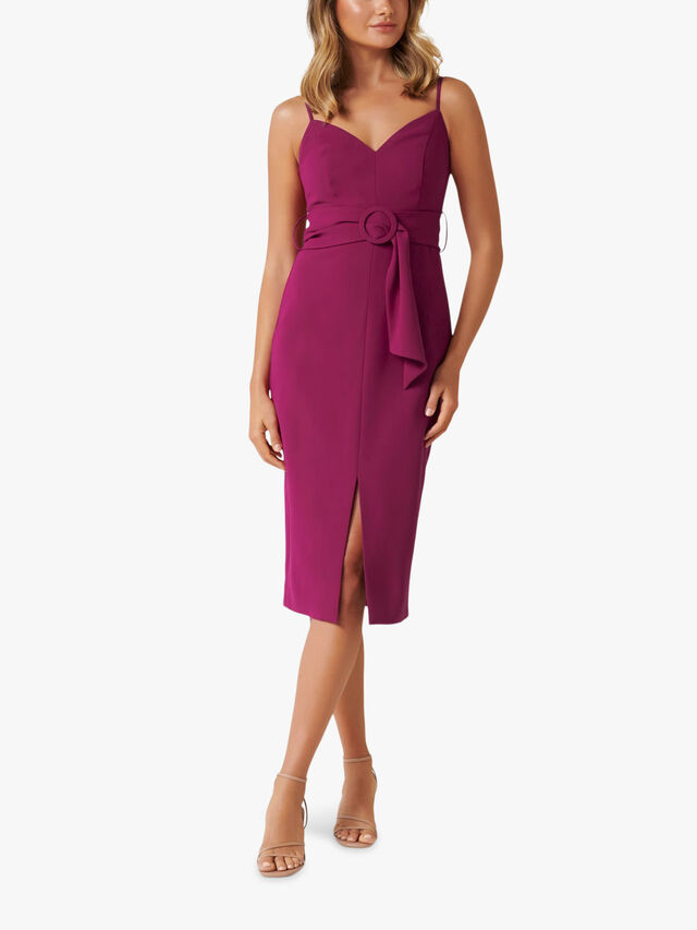 Genevieve Belted Midi Dress
