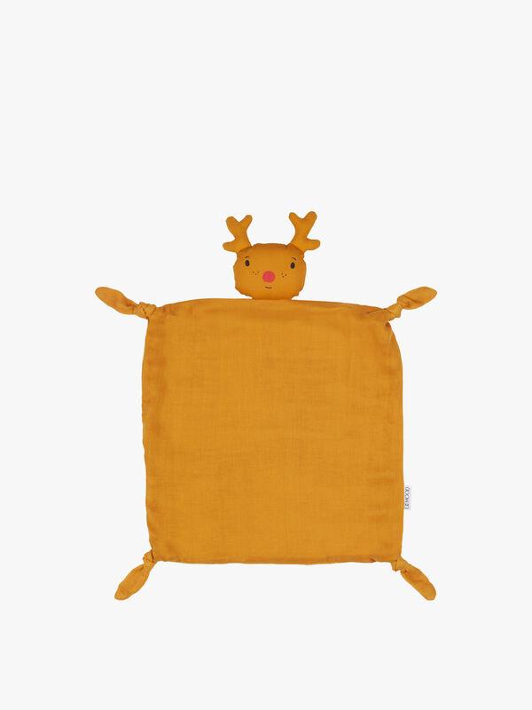 Agnete Cuddle Cloth Reindeer Mustard