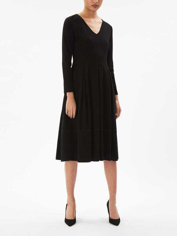 Piadena V Neck Jersey Dress