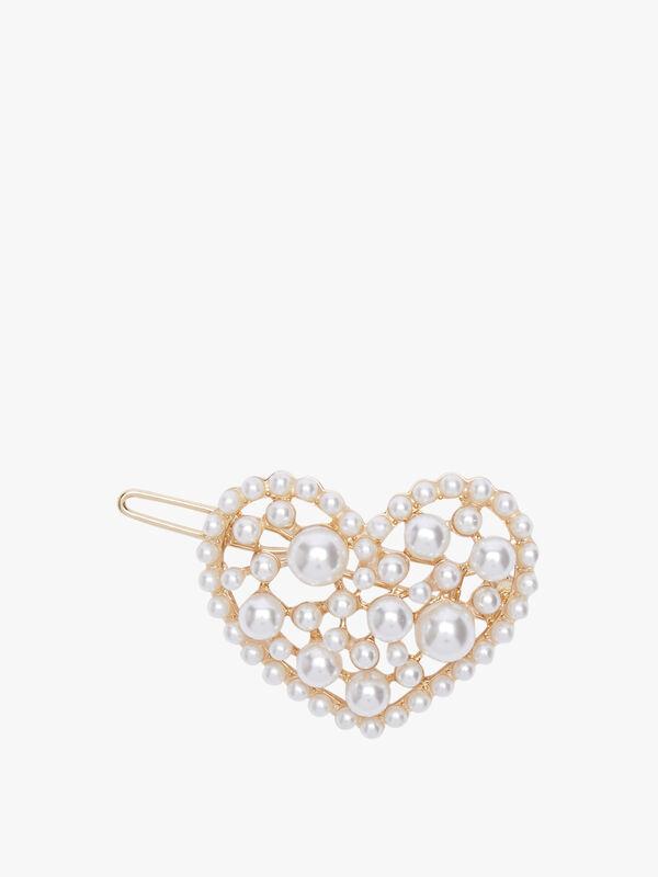 Pearl Heart Barrette