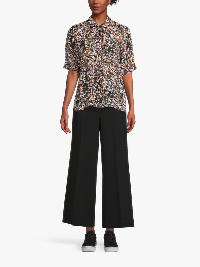 Italla Floral Print Crop Sleeve Shirt