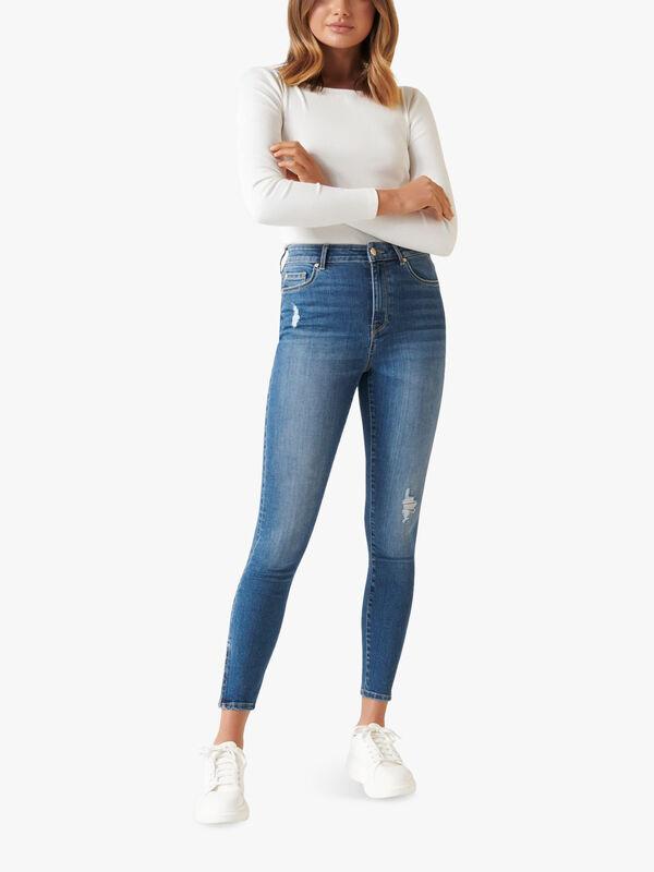 Zoe Mid Rise Ankle Grazer Jean