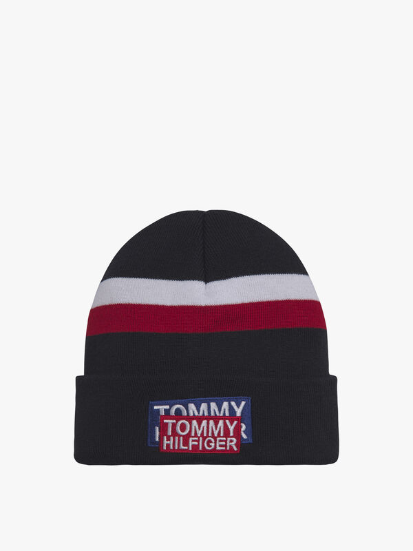 Signature Colour-Blocked Logo Beanie