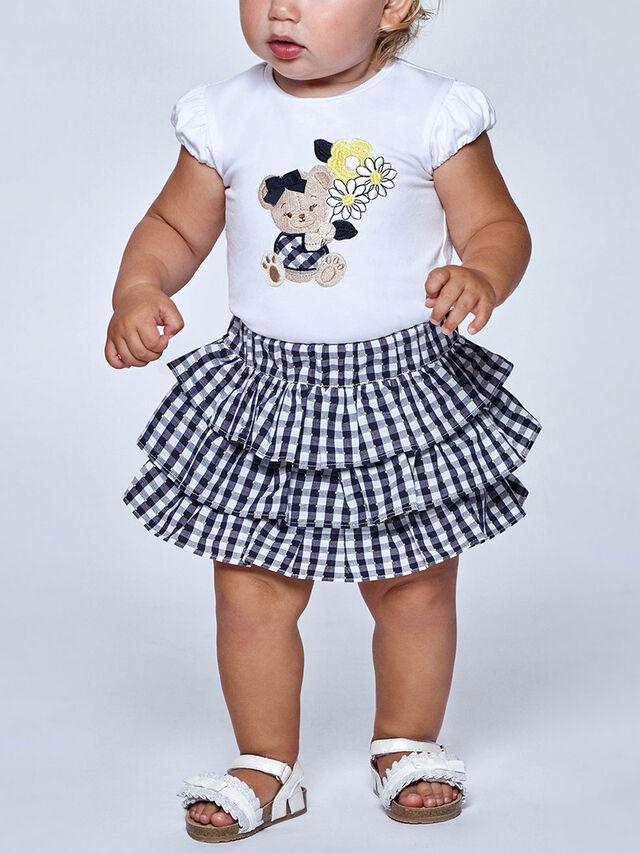 Gingham Shorts & Teddy T-Shirt