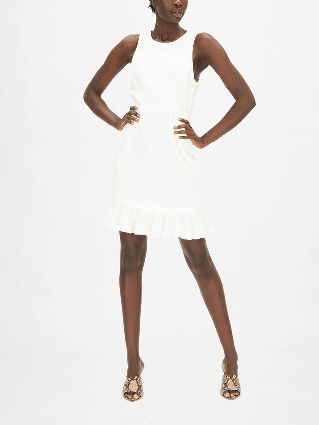 Ruffled Hem Short Pencil Dress