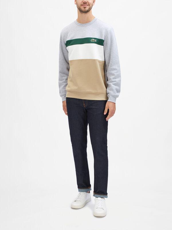Crew Neck Colour Block Sweatshirt