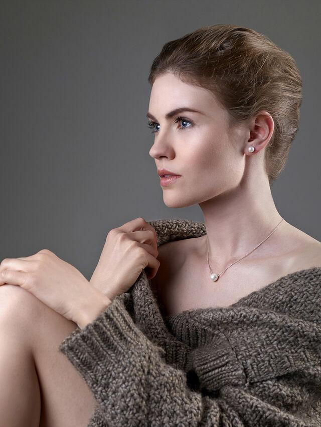 Essent Luze White Pearl Necklace