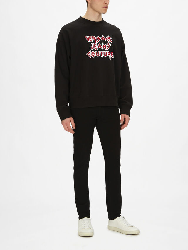 Bold Text Crewneck Sweatshirt