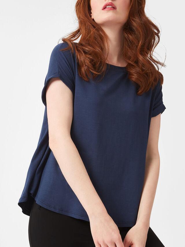 Gathered Sleeve Basic T-shirt