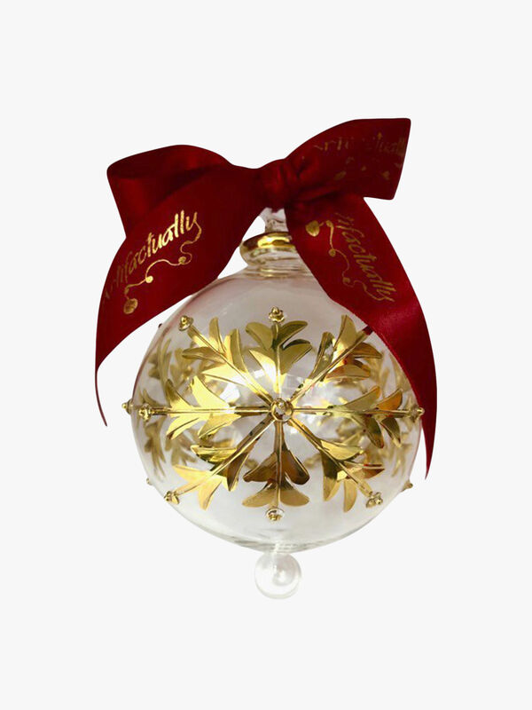 Large Snowflake Gold Ornament