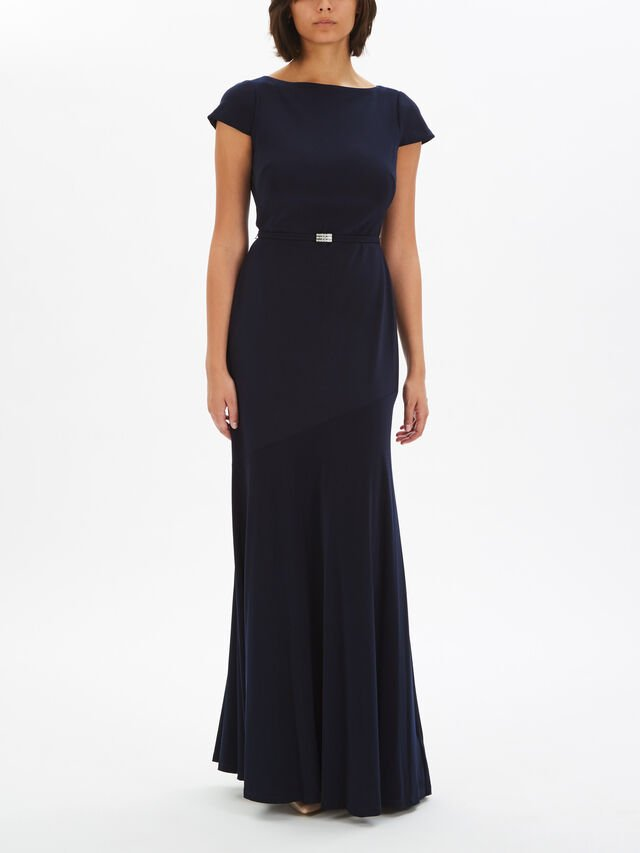 Velandrya Cap Sleeve Evening Dress