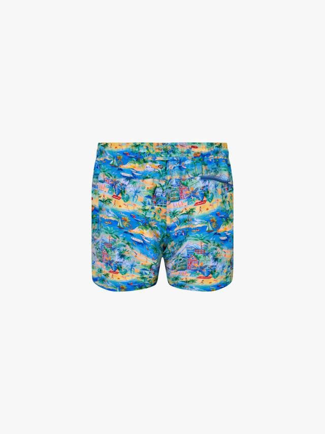Maui Tropical Print Swim Short