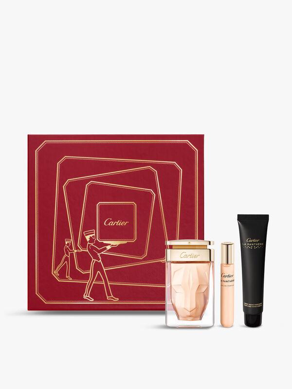 Cartier La Panthère Gift Set: Eau de Parfum 75ml + Purse Spray 15ml + Hand Cream 40ml