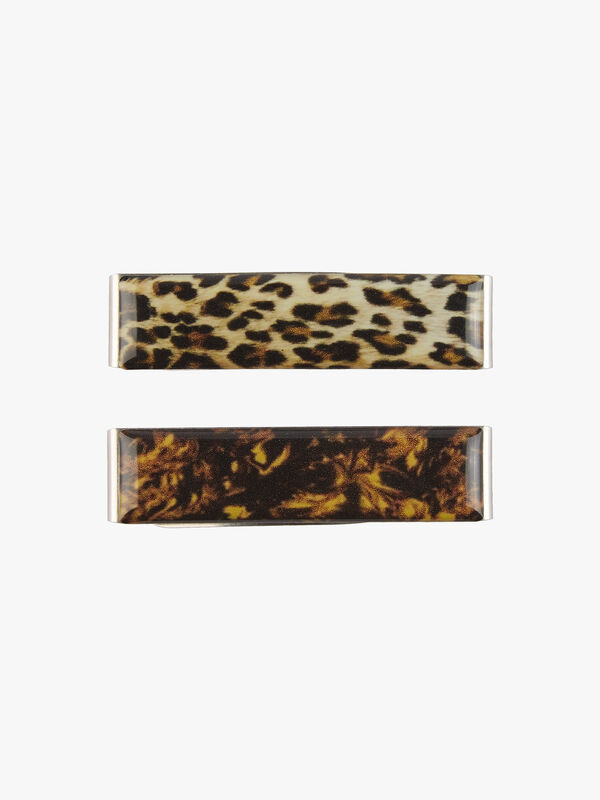 Lepoard and Black Resin Top Clic Clac