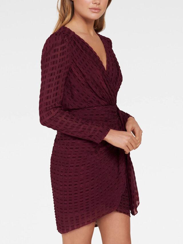 Harper Dobby Drape Mini Dress