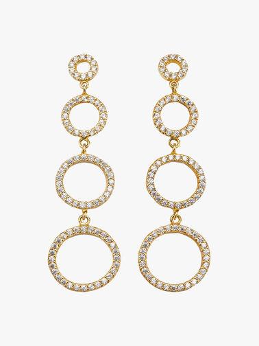 Multi Circles Drop Earrings