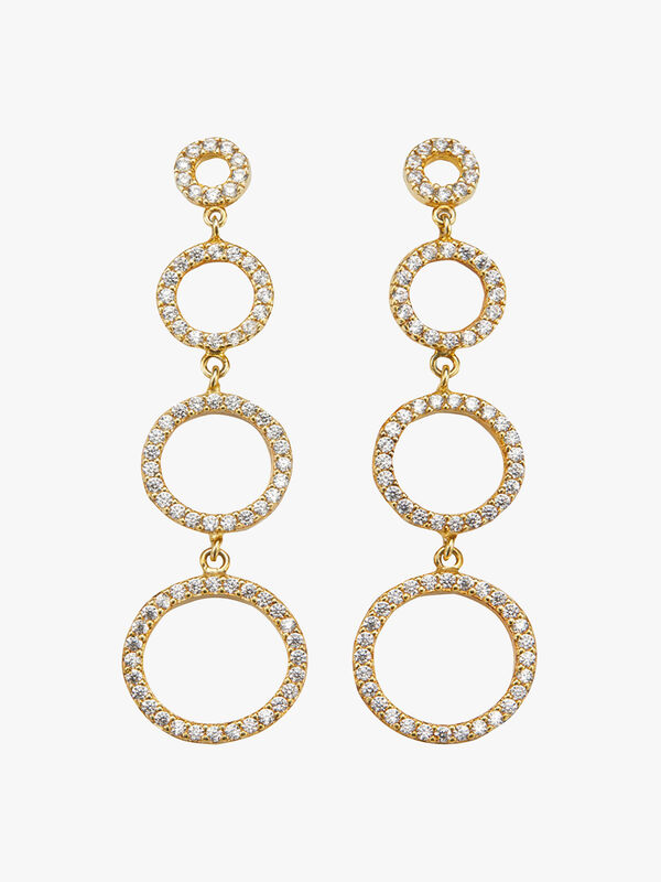 Multi Circles Drop Earrings