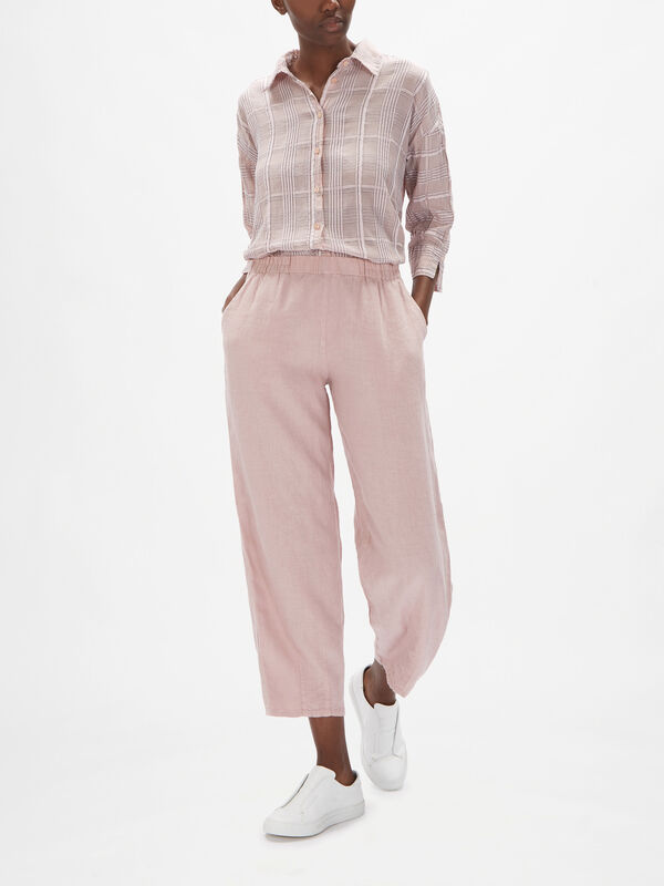 Relaxed Fit Linen Trouser