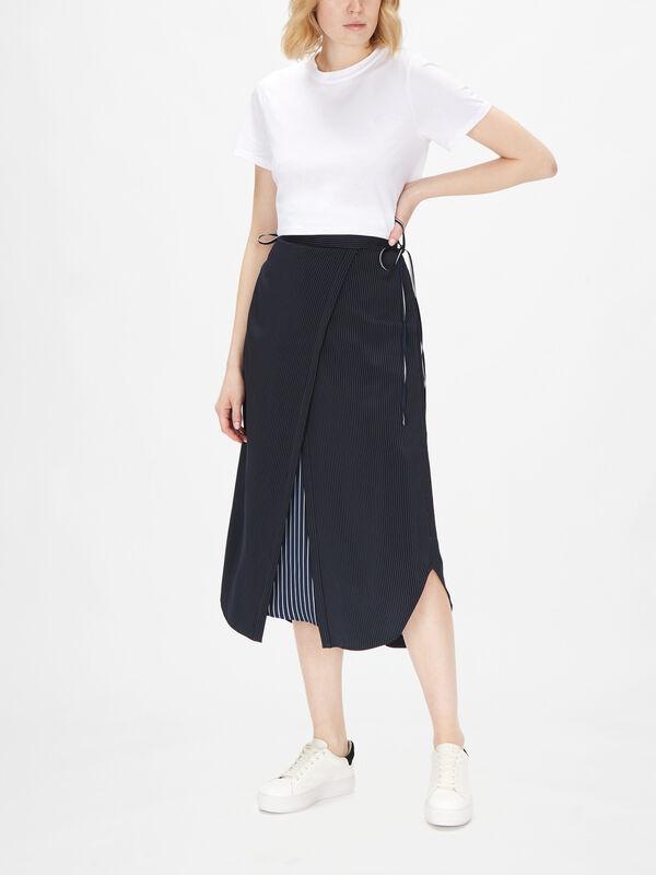 Satin Stripe Skirt